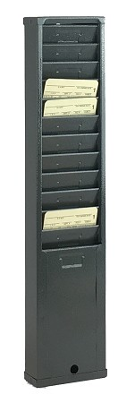 12 Capacity Metal Card Rack - Gray